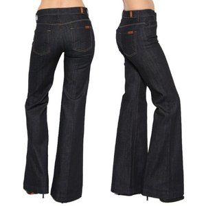 7FAM ginger wide leg bell bottom mercer wash jeans
